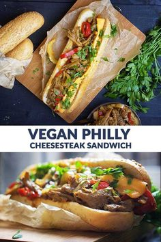 recipes dinner Vegan Philly Cheesesteak Sandwich Vegan Philly Cheesesteak Sandwich - Even though the majority of Americans will disagree with me, I am taking my chances and I'm showing you today how to make the vegan version of the amazing Philly…More Vegan Dinner Recipes, Whole Food Recipes, Cooking Recipes, Healthy Recipes, Tofu Recipes, Jackfruit Recipes, Chicken Recipes, Sandwich Vegan, Vegan Burgers