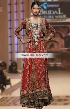 BW6981 Rosewood Cornell Red Crinkle Chiffon Anarkali Lehenga This stunning  designer lehenga features all over pretty. Pakistani Bridal DressesRed  Wedding ... 3dffb3b40