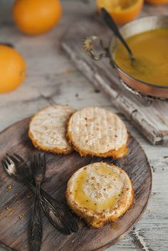 Fried Camembert With Orange Sauce