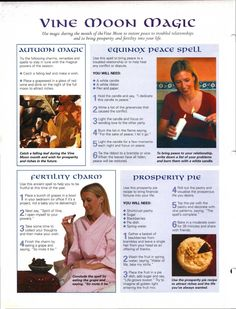 Enhancing Mind Body Spirit  21 Nature Magic Card 14 (back) Vine Moon Magic