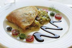 #Crepe with mushrooms and leek @OConvite #Restaurant in www.hoteldg.com, #Fátima, #Portugal  http://www.hoteldg.com/en/restaurant