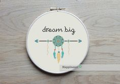 modern cross stitch pattern, Dream big, quote, aztec arrow PDF  ** instant download** by Happinesst on Etsy https://www.etsy.com/listing/208706948/modern-cross-stitch-pattern-dream-big