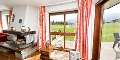 Open fire place with views - Haus Jonghof Apartment Open Fires, Apartments, Curtains, Bedroom, Places, Home Decor, House, Homemade Home Decor, Bedrooms