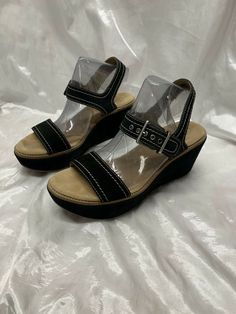 d9b977e31670f3 Clarks Artisan Wedge Tan Sandals Size 9  fashion  clothing  shoes   accessories  womensshoes  sandals (ebay link)