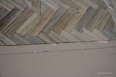 Before I left on my summer holidays I was able to complete a large portion of the floor. I had looked around at different hardwood de...