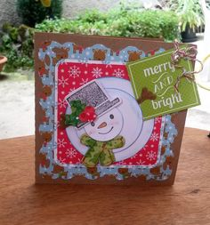 SNOWMAN CHRISTMAS CARD - Scrapbook.com