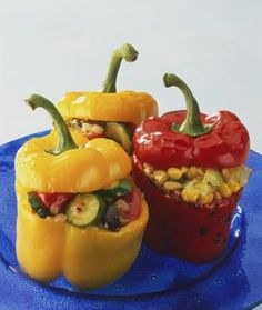 A Great Idea For Your Bird's Dinner: Stuffed Peppers: Stuffed With Nutrition