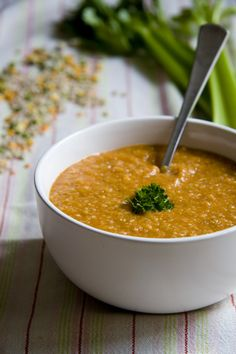 Boot Camp Soup - cleansing, used originally as part of a weight-loss diet - onions, peppers, tomatoes, celery, lentils and iceberg lettuce