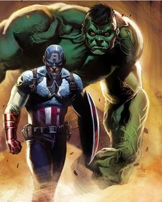 Captain America and Hulk  #comicsandcoffee  By Gabriele Dell'Otto