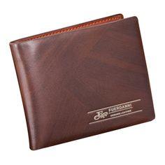 Men Leather Card Cash Receipt Holder Organizer Bifold Wallet Purse Fiiferent type carteira masculina