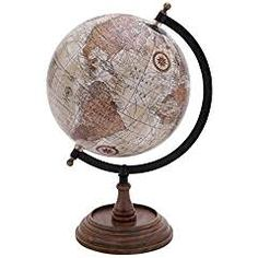 Deco 79 Globe with Metal and Wooden Details. >>> You can get more details by clicking on the image. (This is an affiliate link) #Geography