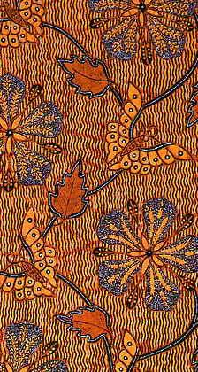 Kain Panjang (batik long cloth) with flowers and butterflies Ethnic Patterns, Textile Patterns, Textile Prints, Textile Art, Print Patterns, Floral Patterns, Shibori, Batik Pattern, Pattern Art