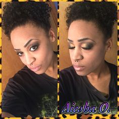 This is me again!  ( Aiesha O.)  Makeup is done by me  This was yesterday's MOTD  Gold and black smokey eye   #makeup #makuplovers #smokeyeye
