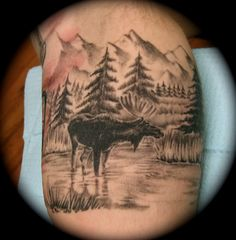 moose tattoo | Ryan Cogswell Tattoo Gallery | Body Art Tattoo and Piercing ...