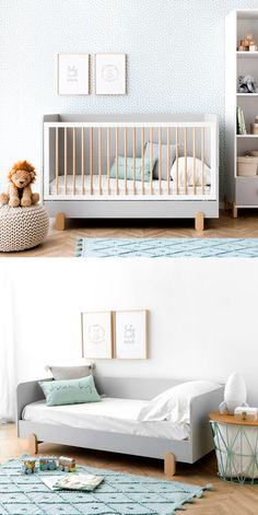Tale cuna convertible A beautiful and very practical crib for the little ones in the house! Baby Bedroom, Baby Boy Rooms, Baby Room Decor, Baby Cribs, Kids Bedroom, Deco Kids, Modern Crib, Kids Room Furniture, Convertible Crib