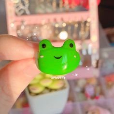 Cute Frog Clay Ring - 7