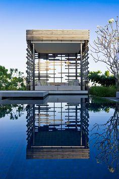 Villa Cabana by Guimin / Rooftop Restaurant, Rooftop Pool, Cabana, Outdoor Walls, Outdoor Living, Alila Villas Uluwatu, Gazebo On Deck, House Of Beauty, Shade Structure