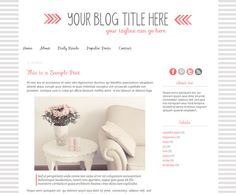Pink Lounge: Premade Blogger Template