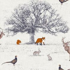 All change - fabric for the roman blinds - lets go all country hunting chic!!