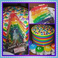 Torta ArcoIris/RainbowCake  Por: Judith Tortas.