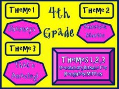 Cloze Worksheet Package for Houghton Mifflin Harcourt Fourth Grade Themes 1-2-3