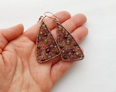 15% OFF Stained Glass  Handmade Netted  Multi Gemstone