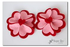 I've got a great project for you today – – a tutorial for how to make Heart Felt Flower Hairclips. They are perfect for Valentine's Hairclips (you can see othernon-felt typesI made a couple of years ago) but really could be used for everyday wear because they're not too holiday-ish, especially if you did them...Read More »