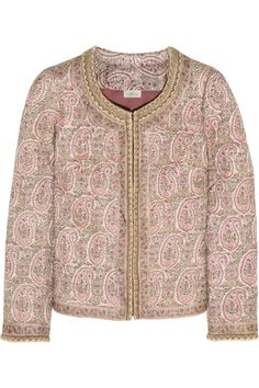 TalithaPaisley-print quilted Tussar silk jacketback