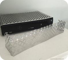 Camo your cable box! making a cable box pretty