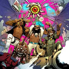 ArtStation - Flatbush Zombies Album Cover, David Nakayama