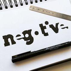 Negative Space by James Martin - Dribbble Typography Sketch, Typography Poster, Graphic Design Typography, Branding Design, Inspiration Logo Design, Typography Inspiration, Negative Space Logos, Wonderful Day, Logo Nasa