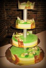 Hääkakku Joko, Tiered Cakes, Desserts, Tailgate Desserts, Deserts, Postres, Dessert, Plated Desserts, Bunting Cake Toppers