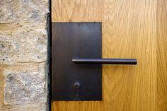 contemporary iron door handle | Oxfordshire Farm Phase 1