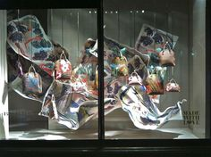 """Burberry at Harrods,""""the flight of a legend"""", pinned by Ton van der Veer"""