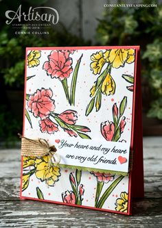 Gift of Love stamp set by Stampin' Up! Designed by Artisan Design Team member, Connie Collins for Global Design Project challenge blog. #GDP049 #stampinup #globaldesignproject #conniecollins #constantlystamping #handstampedcard #giftoflove