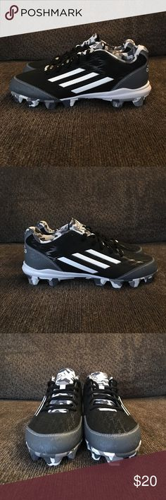 NWOT Adidas Men's Baseball Cleats Brand New Adidas Men's Baseball Cleats - Size 7.5 - Never Worn - New With Out Tags - Does Not Have The Original Box - Color: Black, White, & Camo Adidas Shoes