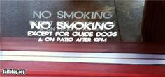 gawck's funny sign friday™: Someone needs to make nicorette for dogs.
