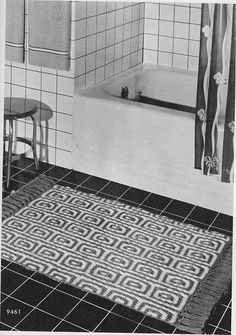 Vintage Crochet Rugs – A Mosaic Rectangle – Grandmother's Pattern Book
