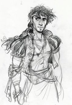 "Tangled Concept Art: An Alternate Flynn Rider...""Bastion - Johnny Depp Version"" by Jin Kim,  Glen Keane"