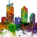 Paint Splashes Map Of Africa Map Digital Art by Michael Tompsett
