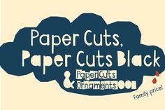 Cool pour affiches culturelles - Paper Cuts Family by Gustav & Brun on Creative Market #Typo