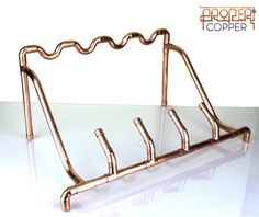 Handmade Copper Wine Rack Wine Storage by ProperCopperDesign