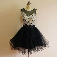 O-Neck A-Line Homecoming Dresses,Short Prom Dresses,Cheap Homecoming Dresses…