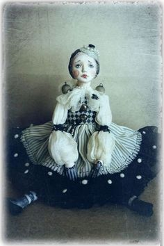 Art Dolls, Cool Art, Disney Characters, Fictional Characters, Fancy, Black And White, Disney Princess, Etsy, Awesome