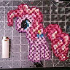 MLP Pinkie Pie perler beads by nintendo.junkie