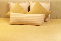 Gold Chenille Bed Cover Set with 1 Double Bed Cover and 2 Cushion Covers   Rs. 4,280