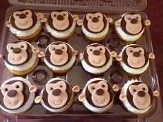 Monkey cupcakes for safari theme party