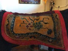 Buy Antique Chinese Peking Wool Saddle Bag Century, Blue & Gold Border Florals at online store Horse Rugs, Saddles, Blue Gold, Rugs On Carpet, Saddle Bags, Ebay, Horses, Wool, Stuff To Buy