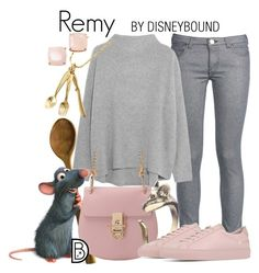 """Remy"" by leslieakay ❤ liked on Polyvore featuring George J. Love, Vince, Disney, Common Projects, Kate Spade, disney, disneybound and disneycharacter"