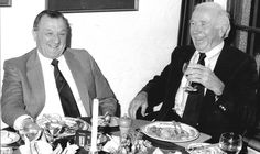 Former Liverpool manager Bob Paisley (left) and ex-United boss Sir Matt Busby dined together in 1983